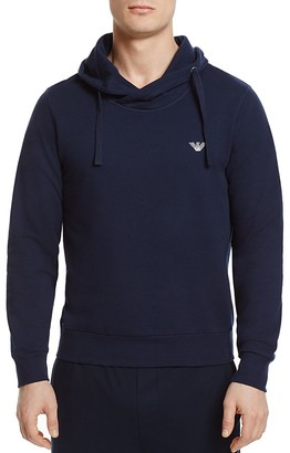 Emporio Armani French Terry Lounge Hoodie Sweatshirt $95 thestylecure.com