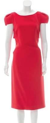 Antonio Berardi Short Sleeve Midi Dress