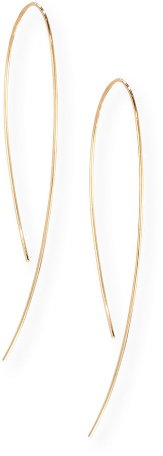 Lana Yellow Gold Hook-On Hoop Earrings
