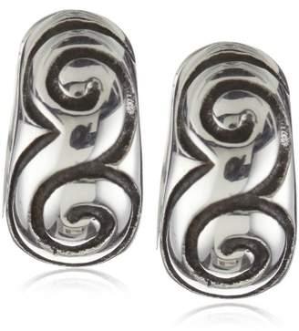"""Zina Sterling """"Signature Swirl"""" Snap Hoop Earrings"""