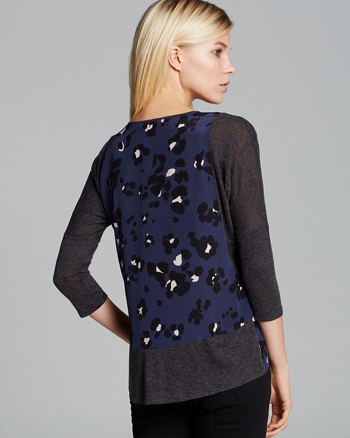 Rebecca Taylor Tee - Cool Cat Print Slouchy