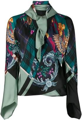 Salvatore Ferragamo silk Susanne wrap blouse