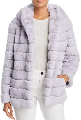 Maximilian Furs Hooded Rabbit Fur Coat - 100% Exclusive