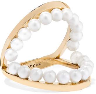 Delfina Delettrez 18-karat Gold Pearl Ring