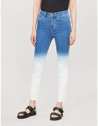 Paige Hoxton slim high-rise raw-hem jeans