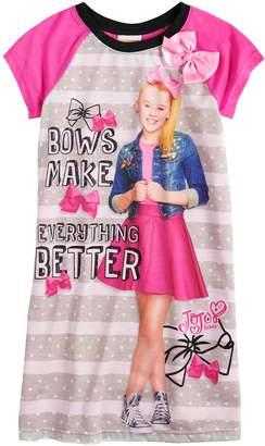 "Nickelodeon Jojo Siwa Girls 4-10 JoJo Siwa ""Bows Make Everything Better"" Knee-Length Dorm Nightgown"