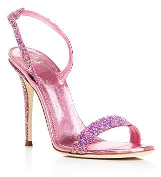 Giuseppe Zanotti Women's Glittered Leather Slingback High-Heel Sandals - 100% Exclusive