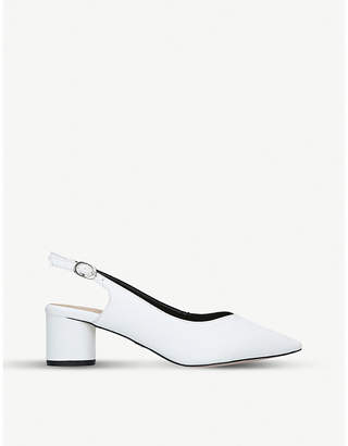 Kurt Geiger Cecily block heel court shoes