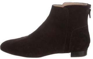 Delman Suede Ankle Boots $145 thestylecure.com