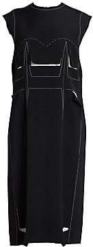 Maison Margiela Women's Contrast Stitch Pattern Dress