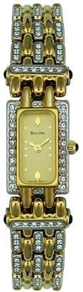 Bulova Women's 98T13 Crystal -Tone Watch