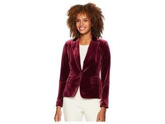 Tahari ASL One-Button Velvet Jacket Women's Coat