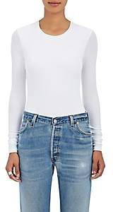 ATM Anthony Thomas Melillo Women's Rib-Knit Long-Sleeve Bodysuit - White