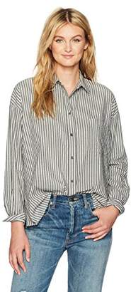 Vince Women's Striped Boxy Shirt,M