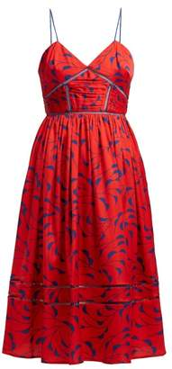 Self-Portrait Self Portrait Azalea Print Satin Dress - Womens - Red Multi