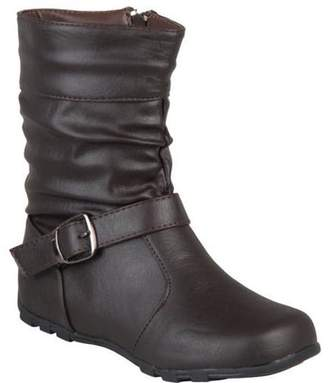 Co Brinley Kids Brinley Girls' Slouchy Accent Mid-calf Boots