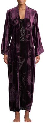 Faberge Christine Lingerie Velvet Long Robe