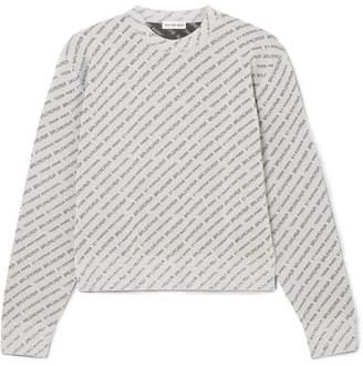 Balenciaga Glittered Lurex Sweater - Silver