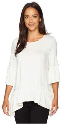 Karen Kane Ruffle Hem Top Women's Clothing