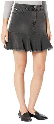 MICHAEL Michael Kors Denim Flounce Skirt