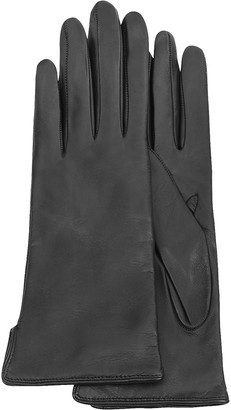 4a860d562c7e Forzieri Women s Black Cashmere Lined Italian Leather Gloves