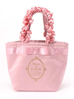 Maison de Fleur (メゾン ド フルール) - Maison de FLEUR ブランドロゴフリルハンドルトートバッグ