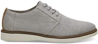 Toms Grey Linen Men's Preston Dress Shoes