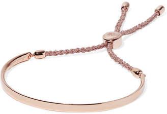 Monica Vinader Fiji Rose Gold Vermeil And Woven Bracelet