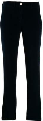 Incotex velvet cropped trousers