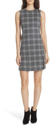 Theory Westport Plaid Wool Cashmere Shift Dress