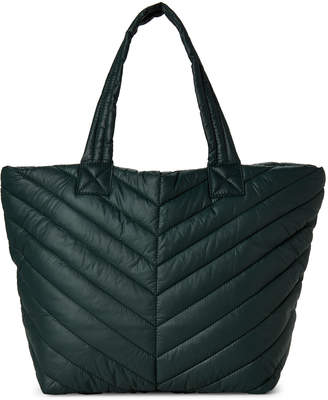 Urban Expressions Olive Kickoff Quilted Nylon Tote