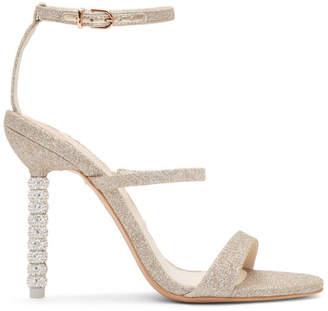 Sophia Webster Gold Rosalind Glitter Crystal Sandals