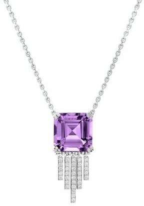 Ivanka Trump Empire Amethyst Diamond Fringe Necklace $4,900 thestylecure.com