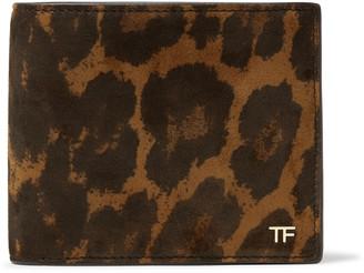 Tom Ford Leopard-Print Nubuck Billfold Wallet