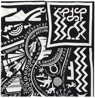 Salvatore Ferragamo abstract print scarf