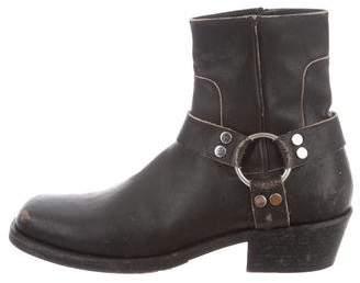Balenciaga Leather Moto Boots