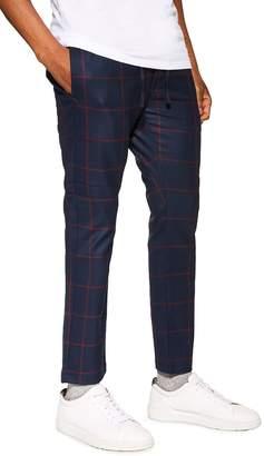 Topman Windowpane Check Jogger Pants