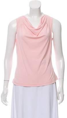 Calvin Klein Collection Sleeveless Cowl Neck Top