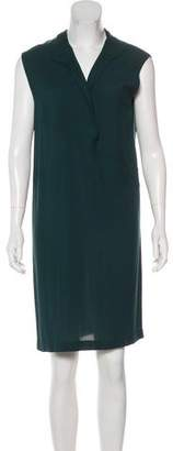 Les Prairies de Paris Sleeveless Knee-Length Dress