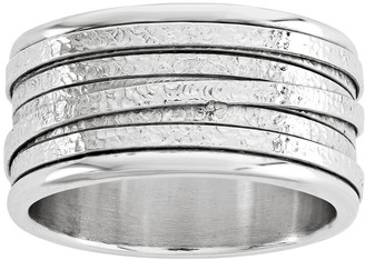 Italian Silver Wrapped Textured Band Ring