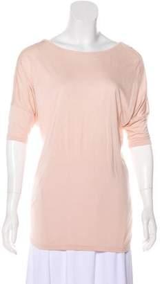 Haute Hippie Crystal-Embellished Short Sleeve Top