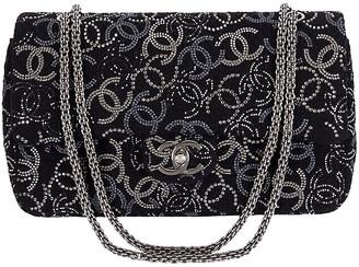 674cb7dbbd64 One Kings Lane Vintage Chanel Rhinestone Logo Double-Flap Bag - Vintage Lux