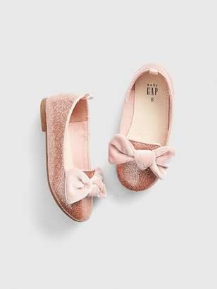 Gap Velvet Bow Ballet Flats