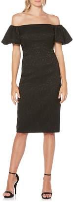 Laundry by Shelli Segal Women's Off-the-Shoulder Midi Dress
