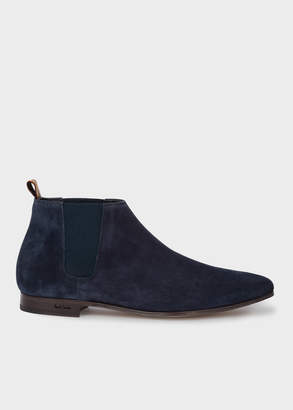 Paul Smith Men's Dark Navy Suede Leather 'Marlowe' Chelsea Boots