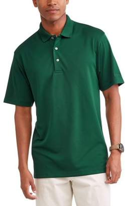 Hogan Ben Performance Men's Solid Ventilated Short Sleeve Polo Shirt, up to Size 5XL