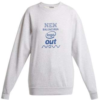 Balenciaga Logo Sweatshirt - Womens - Light Grey