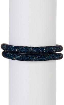 Swarovski Stardust Green Crystal Detail Wrap Bracelet $79 thestylecure.com