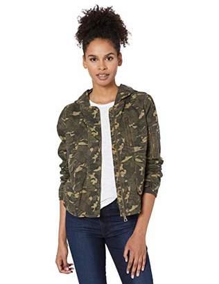 Urban Republic Women's Juniors Cotton Twill Hooded Bomber,XL