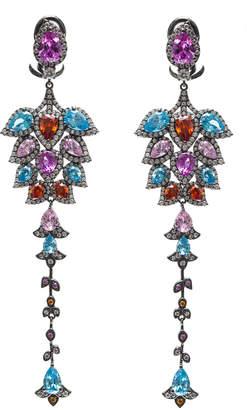 Ammanii Multi Colors Long Statement Earrings